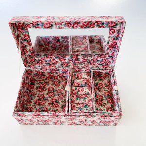 Vintage Pink Floral Jewelry Box